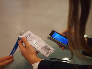 beamian with check-in technology to improve entrance at the event